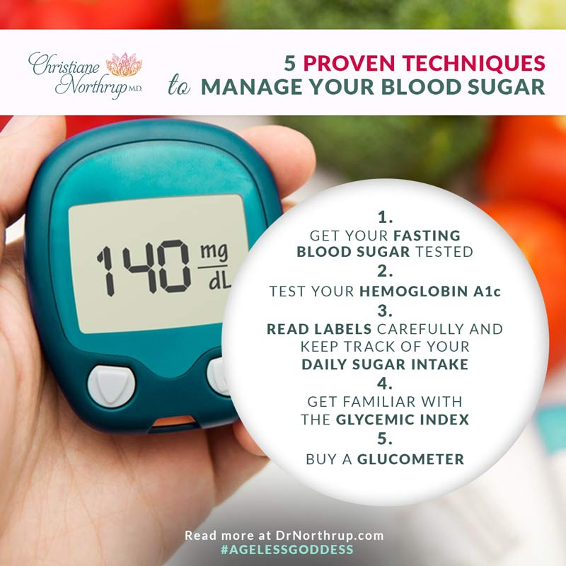 // 5 Proven Techniques to Manage Your Blood Sugar from Christiane Northrup, M.D. #diabetes #low #glycemic #index